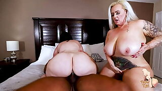 Big Tit Wives Kendra Kox and Virgo Be hung up on BBC Stranger