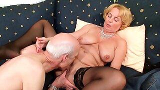 74yr old German Granny and Grandpa Crafty Time Porn